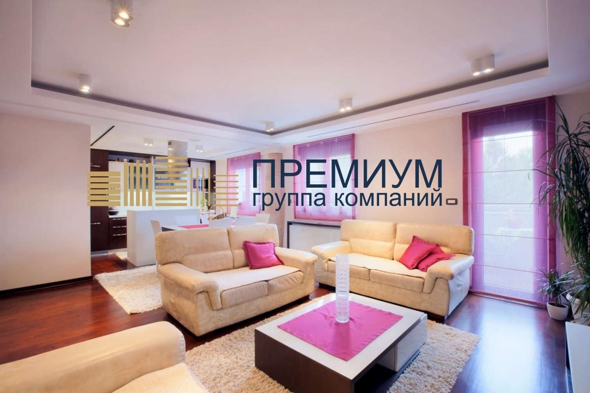 Сатиновый натяжной потолок S= 23м2
