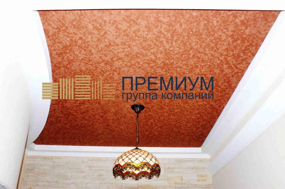 Фактурный натяжной потолок S= 12м2