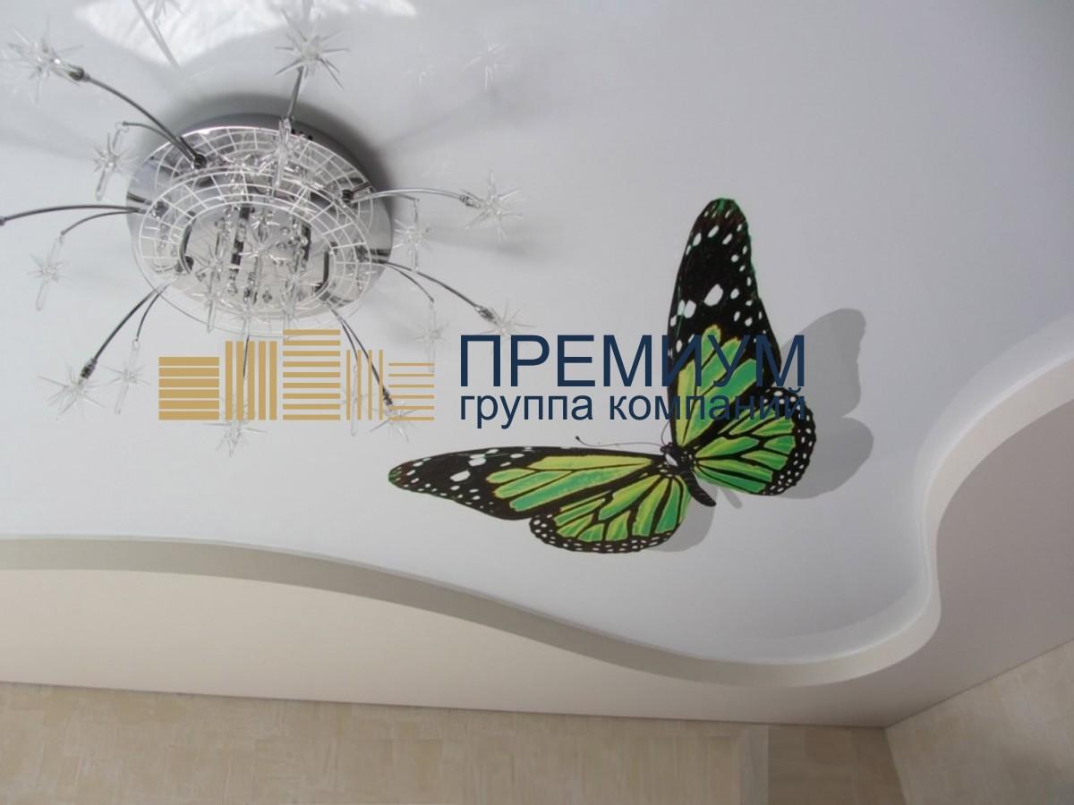 Натяжной потолок с арт-печатью S= 11м2