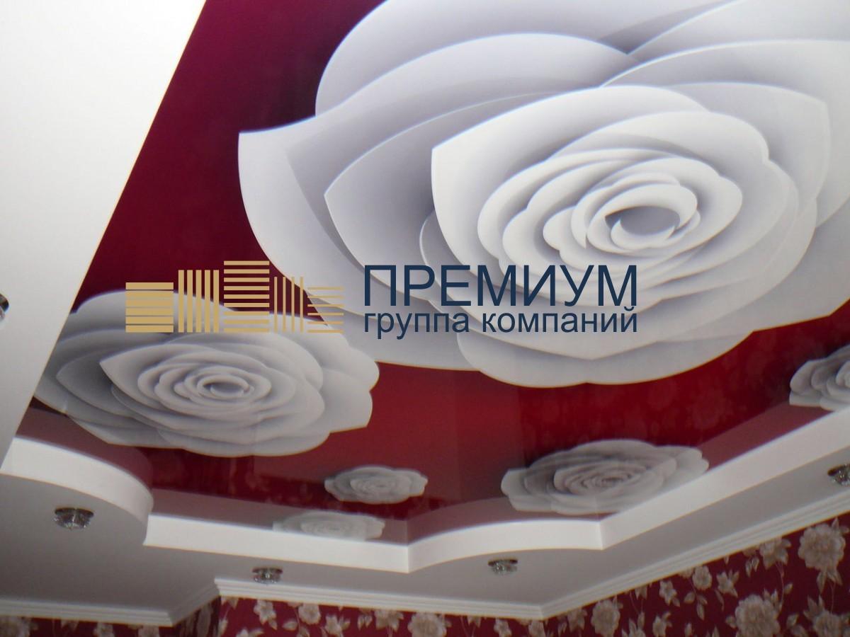 Натяжной потолок с арт-печатью S= 16м2
