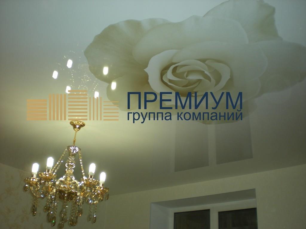 Натяжной потолок с фотообоями S= 19м2