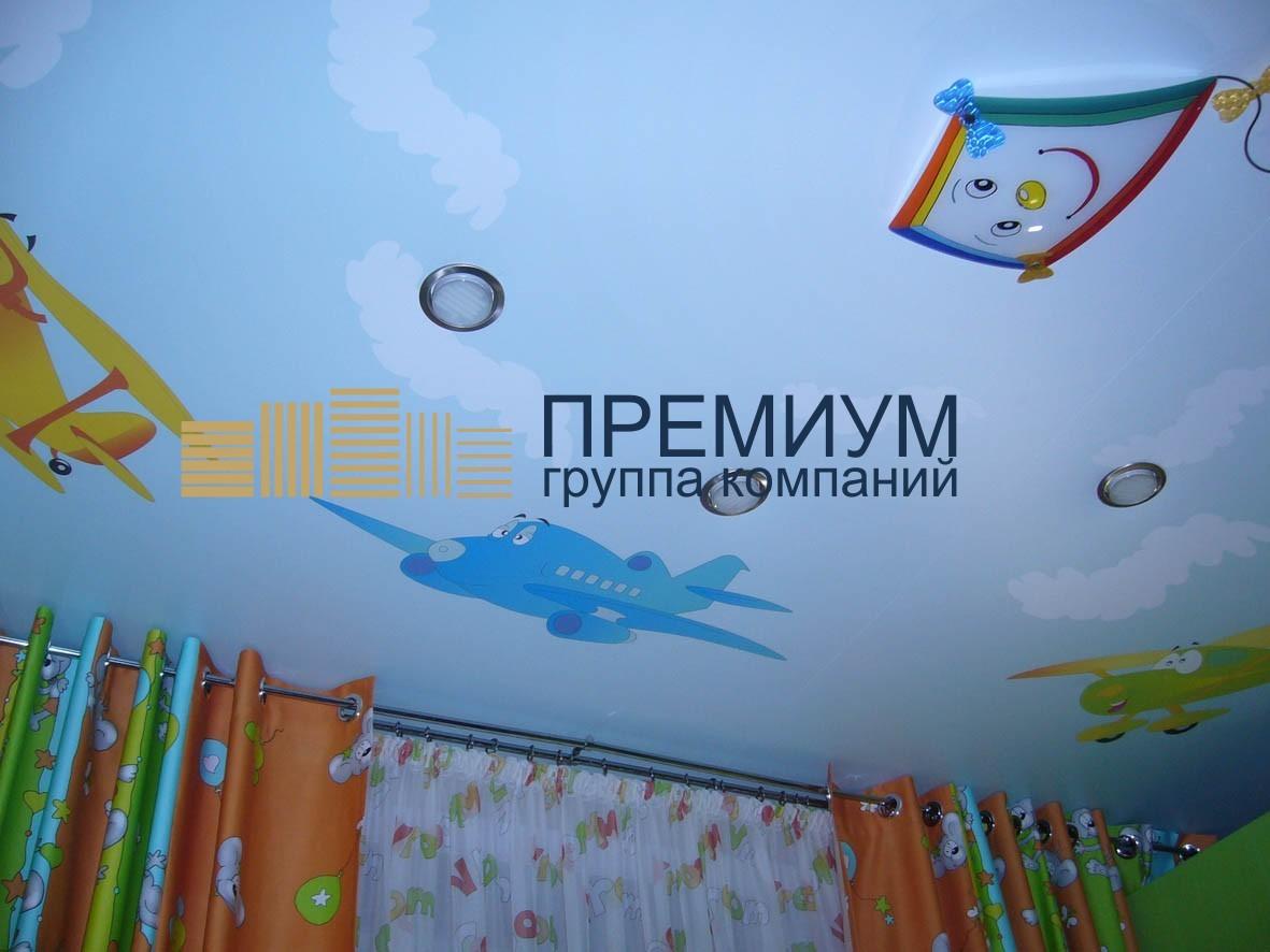 Натяжной потолок с фотообоями S= 15м2