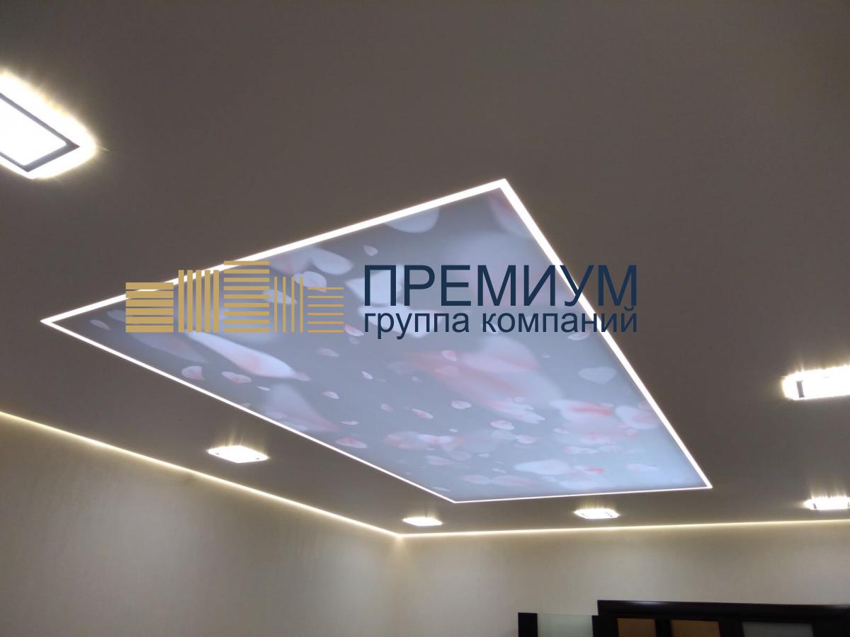 Светопрозрачный натяжной потолок S= 15м2