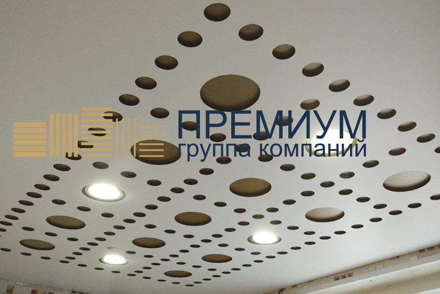 Резной натяжной потолок S= 13м2