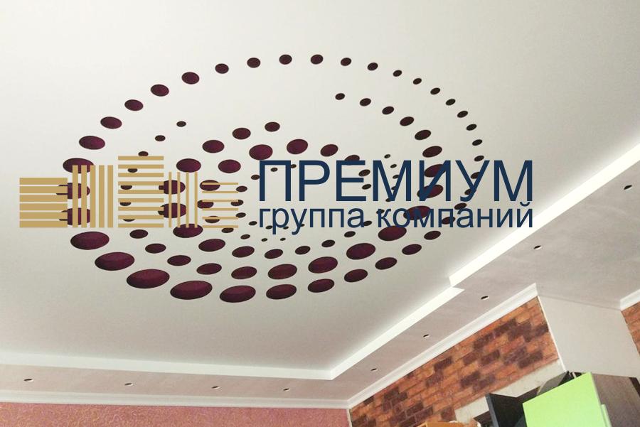 Резной натяжной потолок S= 27м2