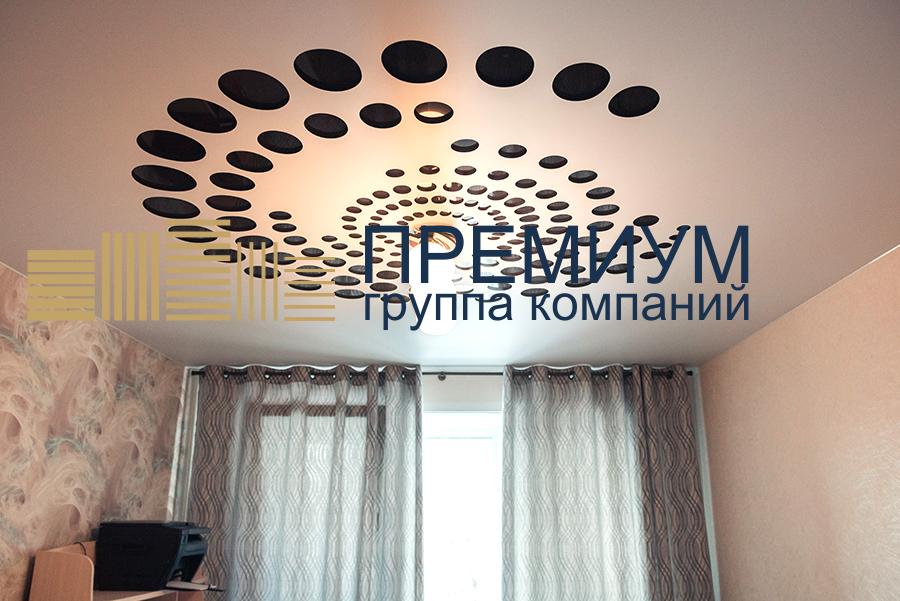Резной натяжной потолок S= 22м2