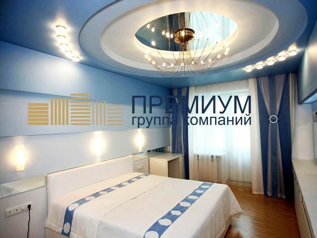 Акустический натяжной потолок S= 14м2