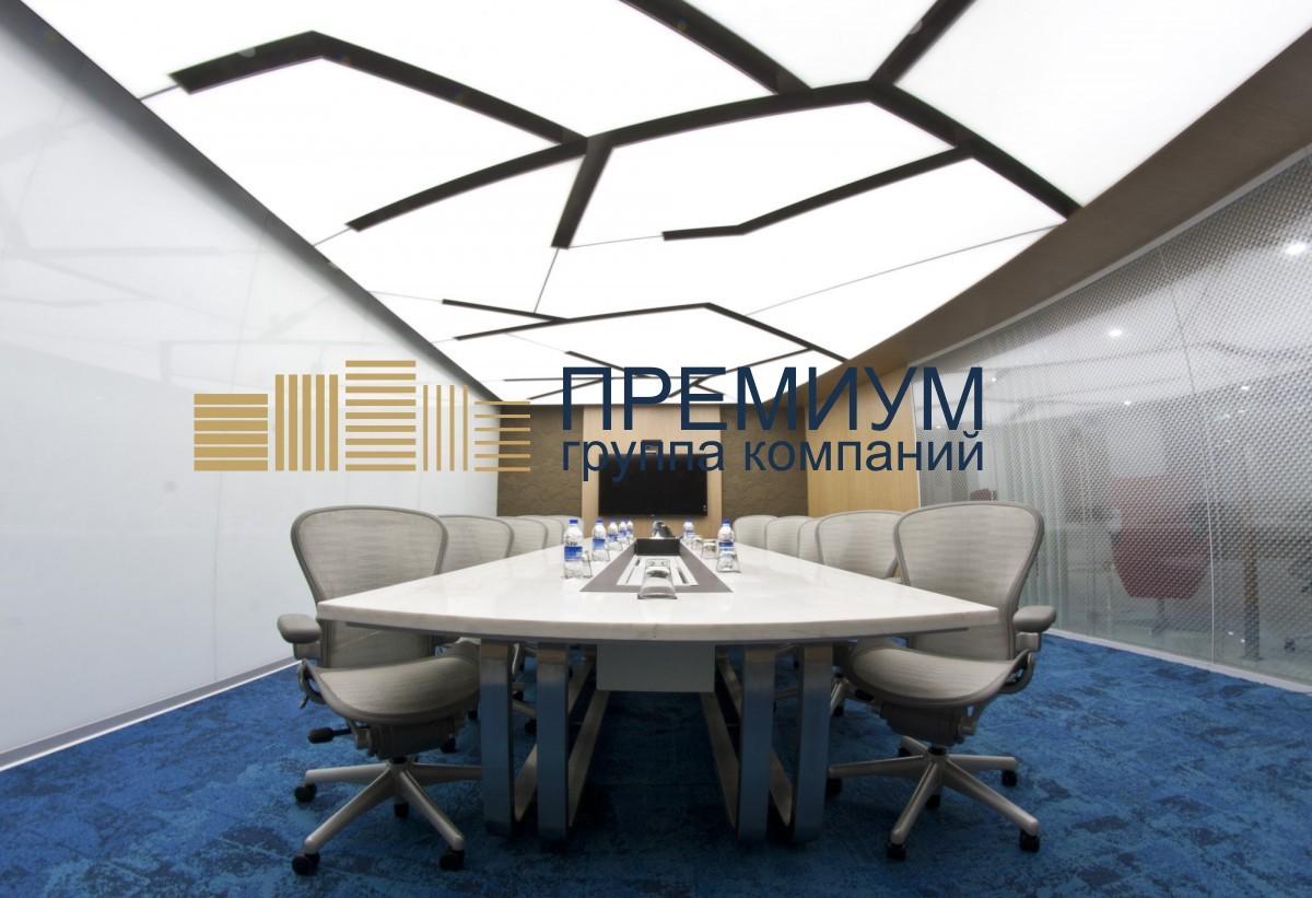 Светопрозрачный натяжной потолок S= 17м2