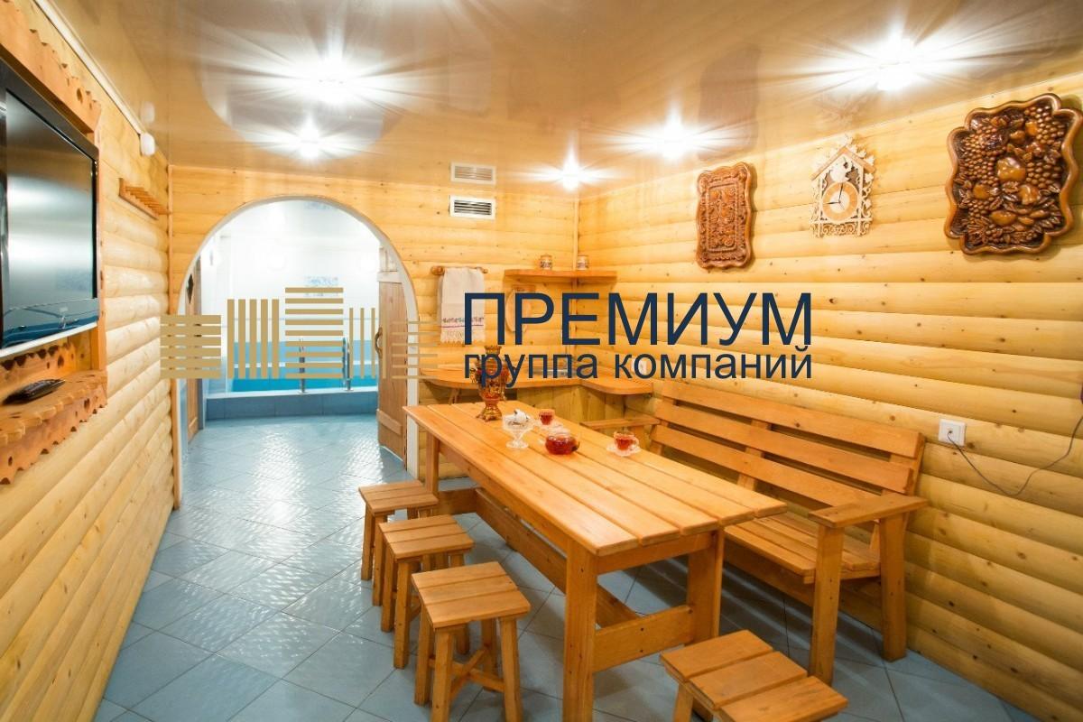 Натяжной потолок в бане S= 8м2