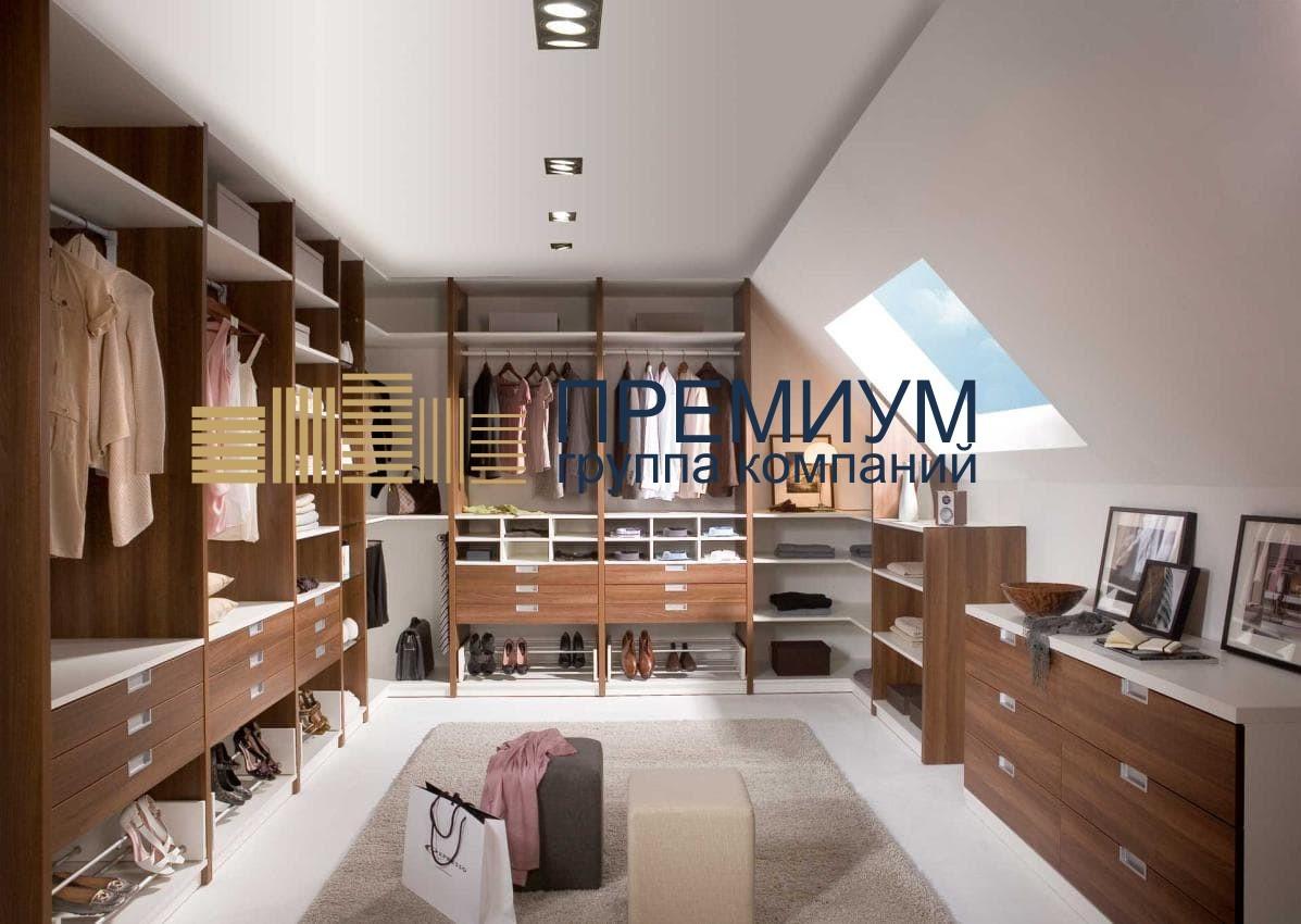 Натяжной потолок в гардеробную S= 12м2