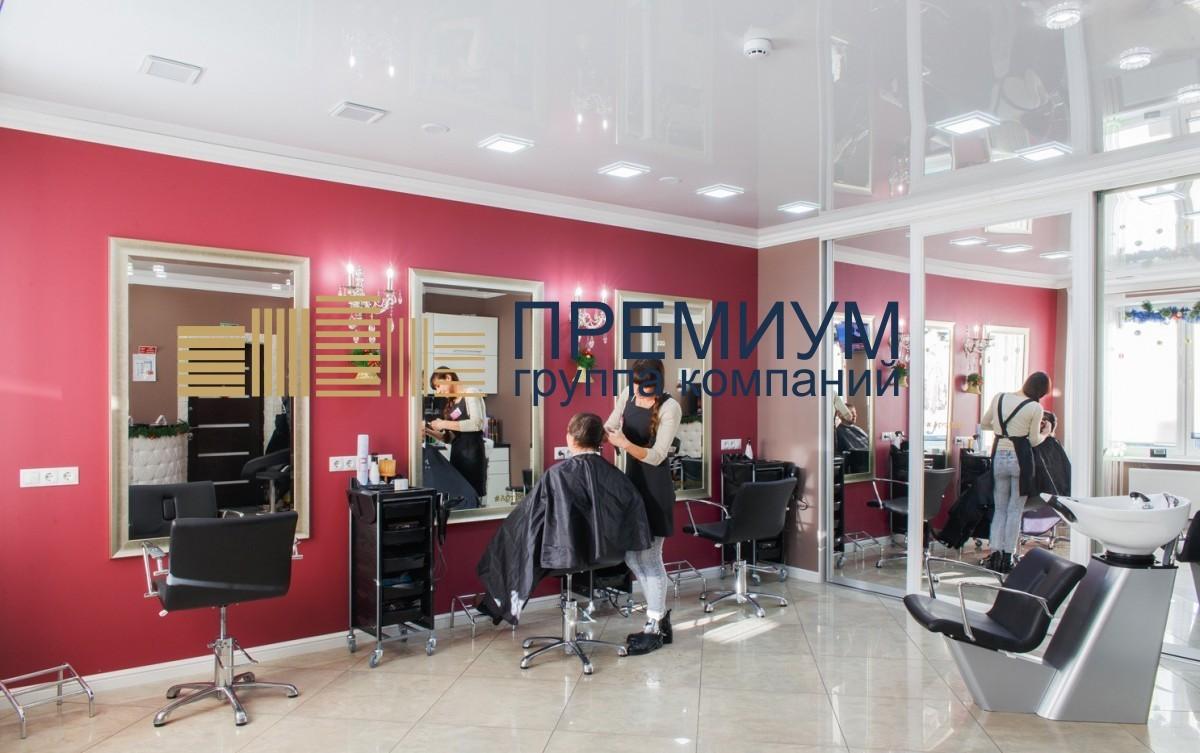 Натяжной потолок в парикмахерской S= 18м2