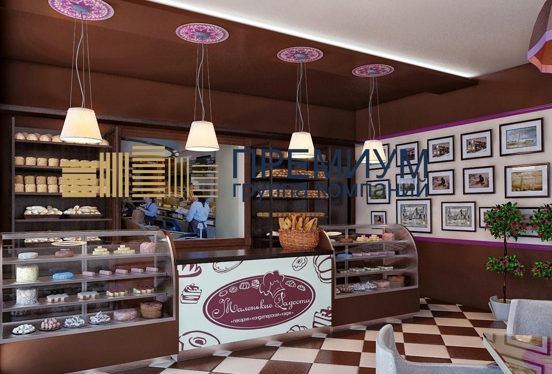 Натяжной потолок в пекарню S= 25м2